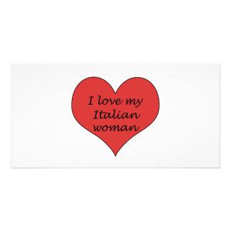 Love My Italian Woman Personalised Photo Card