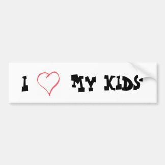 Love My Kids Bumper Sticker