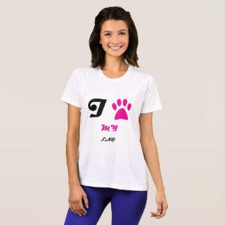 Love My Lab Paw T-Shirt