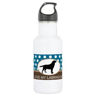 Love My Labrador retriever dog 18oz Water Bottle