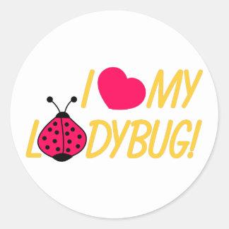 Love My Ladybug Round Sticker