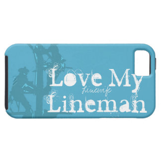 Love My Lineman {Blue} iPhone 5 Cases