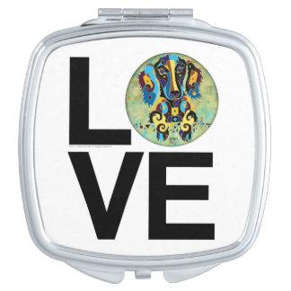 Love My Long Haired Dachshund Compact Mirror
