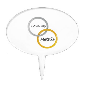 Love My Metals Cake Pick