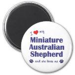 Love My Miniature Australian Shepherd (Female Dog) Magnet