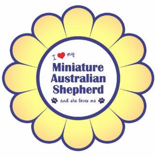 Love My Miniature Australian Shepherd (Female Dog) Photo Sculpture Decoration