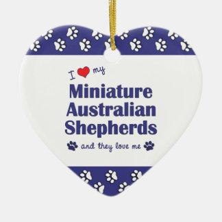 Love My Miniature Australian Shepherds (Multiple) Christmas Ornament