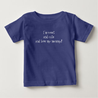 """""""Love my mommy"""" Baby Fine Jersey T-Shirt, Blue Baby T-Shirt"""