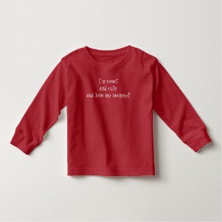 """""""Love my mommy"""" Baby Fine Jersey T-Shirt, red Toddler T-Shirt"""
