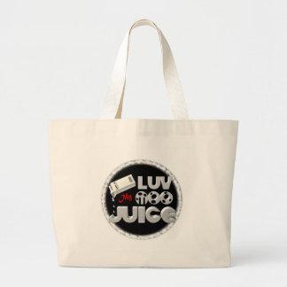 Love My Moo Juice template Valxart.com Tote Bags