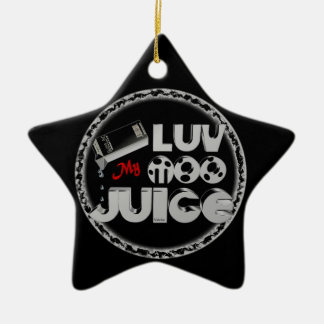 Love My Moo Juice template Valxart.com Christmas Tree Ornaments