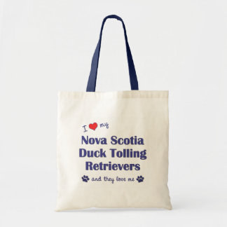 Love My Nova Scotia Duck Tolling Retrievers (They) Budget Tote Bag