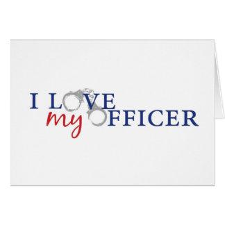love my officercuffs greeting card
