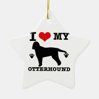 Love my otterhound ceramic star decoration