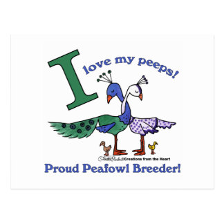 Love My Peeps-Breeders Postcard