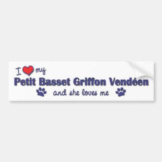 Love My Petit Basset Griffon Vendeen (Female Dog) Bumper Sticker