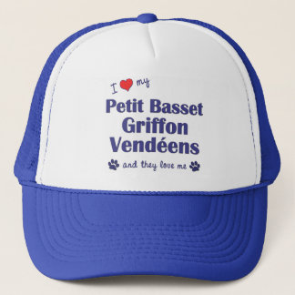 Love My Petit Basset Griffon Vendeens (Multi Dogs) Trucker Hat