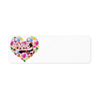 Love My Pitbull Return Address Label
