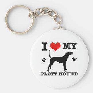 Love my plott hound key ring