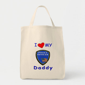 Love My Police Daddy Canvas Bags