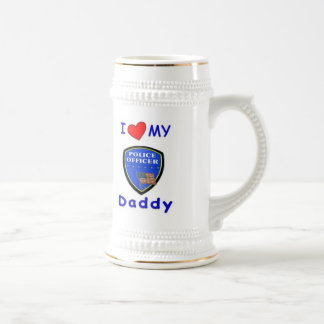 Love My Police Daddy Beer Stein