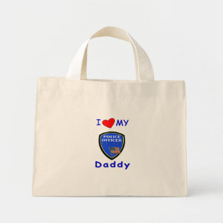 Love My Police Daddy Mini Tote Bag