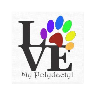 LOVE My Polydactyl Cat Art Canvas Print
