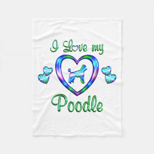 Love My Poodle Fleece Blanket
