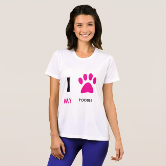 Love My Poodle Paw T-Shirt