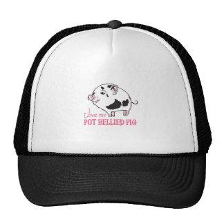 LOVE MY POT BELLIED PIG TRUCKER HATS