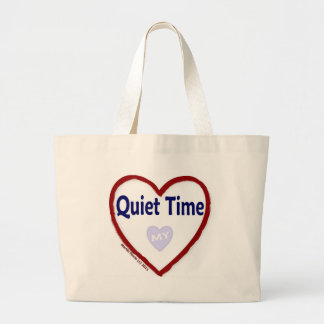 Love My Quiet Time Jumbo Tote Bag
