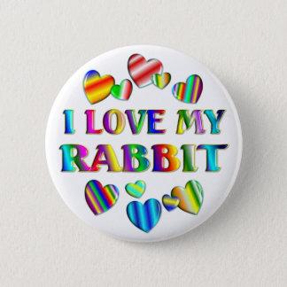 Love My Rabbit 6 Cm Round Badge