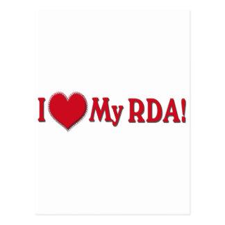 LOVE MY RDA - REGISTERED DENTAL ASSISTANT POSTCARDS