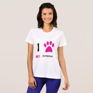 Love My Rottweiler Paw T-Shirt