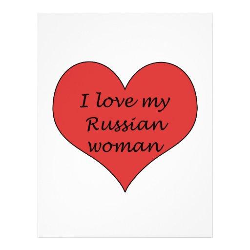 Love My Russian Woman 21.5 Cm X 28 Cm Flyer