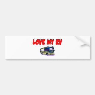 Love My RV Car Bumper Sticker