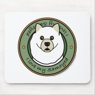 Love My Samoyed Mouse Pad