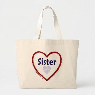 Love My Sister Jumbo Tote Bag
