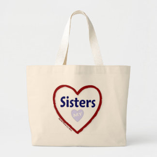 Love My Sisters Jumbo Tote Bag