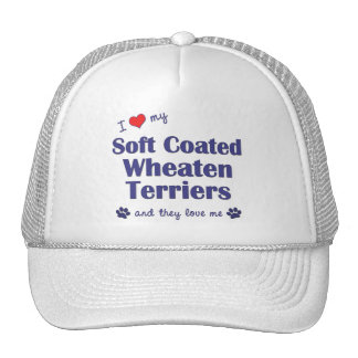 Love My Soft Coated Wheaten Terriers Multi Dogs Mesh Hat