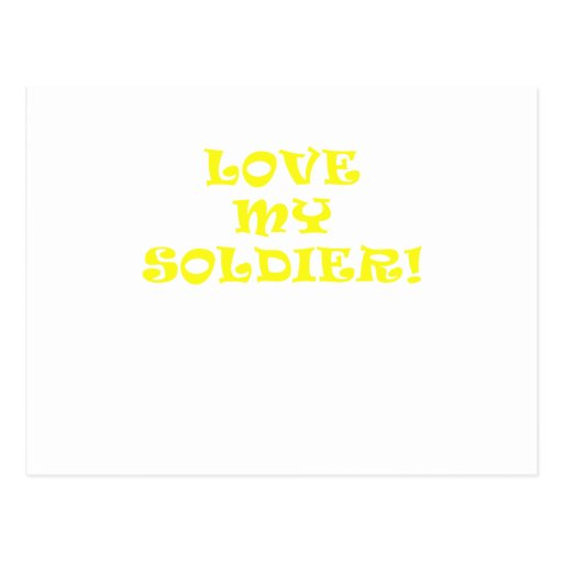 Love My Soldier Post Cards