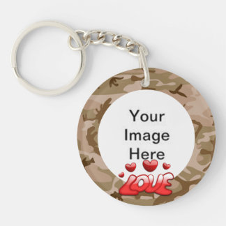 Love My Soldier With Picture Acrylic Keychains