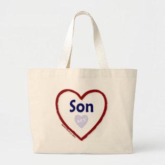 Love My Son Jumbo Tote Bag