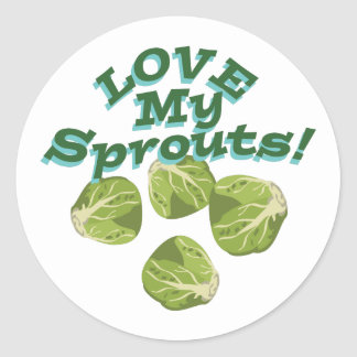 Love My Sprouts Classic Round Sticker