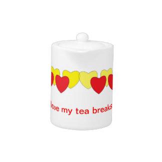 Love My Tea Breaks Teapot