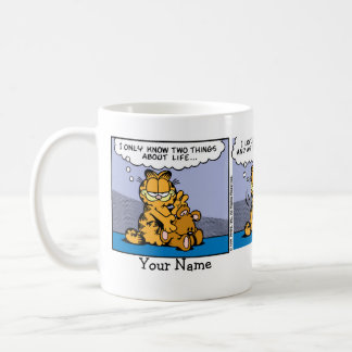 """Love My Teddy Bear"" Garfield Comic Strip Basic White Mug"
