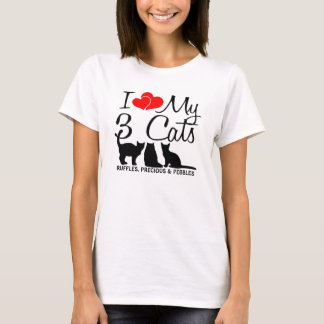 Love My THREE Cats T-Shirt