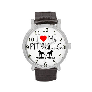 Love My Two Pitbulls Watch