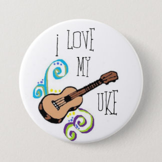 Love My Uke 7.5 Cm Round Badge