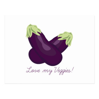 Love My Veggies Postcards